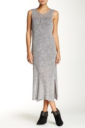 Blvd Peppered Slit Dress Gray