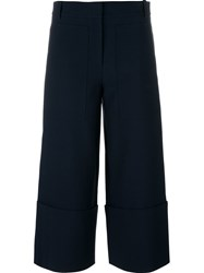 Tibi 'Midna' Cropped Trousers Blue