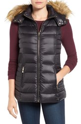 Kate Spade Women's New York Down Vest With Faux Fur Trim