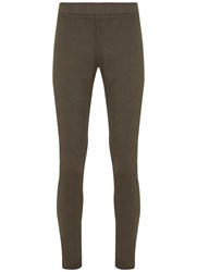 Mint Velvet Lexington Khaki Jegging Green