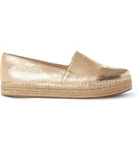 Steve Madden Prioriti Metallic Espadrilles Gold Synthetic