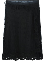 Simone Rocha Layered Lace Skirt Black