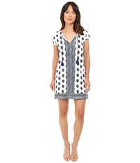 Joie Gadhi 5193 D2240 Porcelain Atlantic Blue Women's Dress White