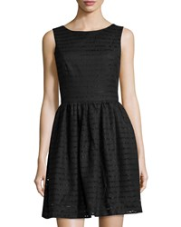 Philosophy Striped Lace Sleeveless Dress Black