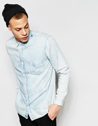 Cheap Monday Denim Shirt Air Bleach Detonation Wash Detonation Wash