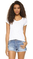 Atm Anthony Thomas Melillo Schoolboy V Neck Tee White