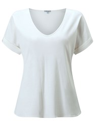 Jigsaw Silk Roll Sleeve Tee Ivory