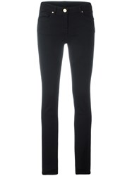 Class Roberto Cavalli Sname Embroidered Skinny Jeans Black