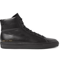 Common Projects Original Achilles Leather High Top Sneakers Black