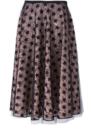 N 21 No21 'Layered Star And Lace' Skirt Black