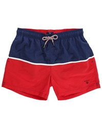 Gant Blue And Red Two Tone Swim Shorts