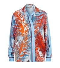 Emilio Pucci Feather Print Long Sleeve Blouse Female Multi