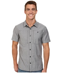 Black Diamond S S Chambray Modernist Shirt Slate Men's Short Sleeve Button Up Metallic
