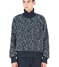E.Tautz Tweed Roll Neck Sweater Black
