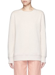 Acne Studios 'Carly' Raw Edge Fleece Sweatshirt Neutral