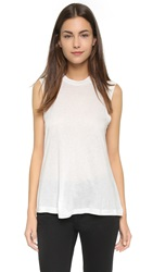 Alexander Wang Classic High Neck Flared Tank White