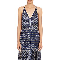 Altuzarra Women's Sequin Embroidered Andy Tank Navy Size 6 Us