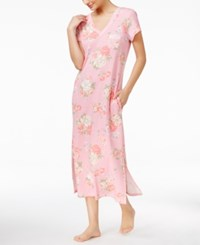 Miss Elaine Floral Print Knit Nightgown Rose Bouquet