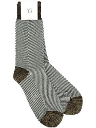 Y's Metallic Grey Effect Socks