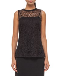 Akris Sleeveless Lace Top Black