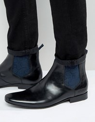 Ted Baker Hourb 2 High Shine Chelsea Boots Black