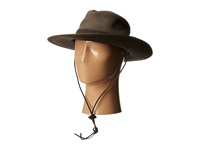 San Diego Hat Company Ocm4610 Outdoor Hat W Chin Cord And Vented Crown Brown Caps
