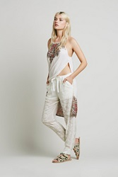 Free People Sheer Embroidered Jogger