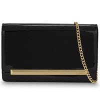 Aldo Afolia Faux Patent Leather Clutch Black Patent