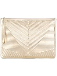Golden Goose Deluxe Brand Oversized Stitched Star Clutch Metallic