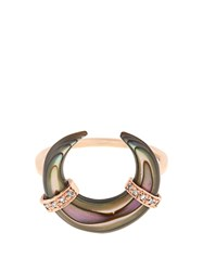 Jacquie Aiche Diamond Abalone And Rose Gold Ring