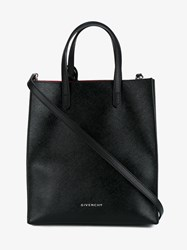 Givenchy Stargate Shiny Coated Canvas Tote Black Silver