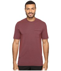 Travis Mathew Smails Heather Oxblood Men's Short Sleeve Knit Mahogany