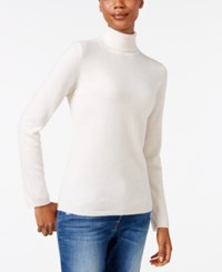 Charter Club Cashmere Turtleneck Sweater Only At Macy's 16 Colors Available Ivory