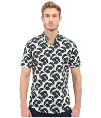 7 Diamonds Lost In Paradise Short Sleeve Shirt Blue Men's Short Sleeve Button Up