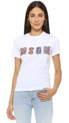 Patchwork Msgm Tee White