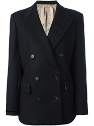 N 21 No21 Double Breasted Short Coat Black