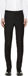 Givenchy Black Trousers In Wool Extra Slim Fit Key Ring Detail On Pocket