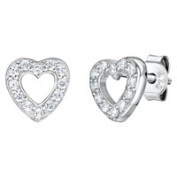 Jools By Jenny Brown Heart Stud Earrings