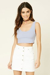Forever 21 Ribbed Trim Crop Top