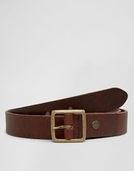 Minimum Skinny Leather Belt Brown