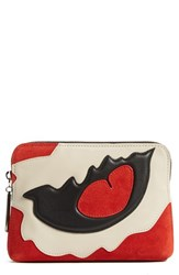 Women's 3.1 Phillip Lim '31 Second Patchwork' Suede And Leather Pouch