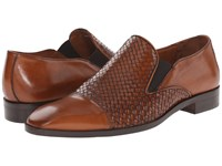Massimo Matteo Woven Cap Toe Loafer Cuoio Men's Slip On Shoes Brown