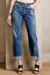Anthropologie Burning Torch Embellished Vintage Jeans Rain 2 Denim