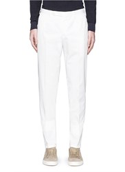 Boglioli Cotton Twill Chinos White