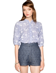 Pixie Market Miley Quilted High Waisted Shorts