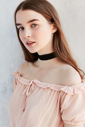 Urban Outfitters Maddison Wide Fabric Choker Necklace Black