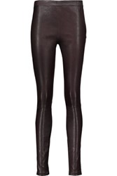 Maje Leather Leggings Merlot
