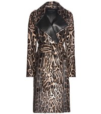 Tom Ford Printed Goat Hair Coat Multicoloured