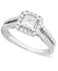 Macy's Princess Cut Certified Diamond 1 1 3 Ct. T.W. And 14K White Gold Engagement Ring