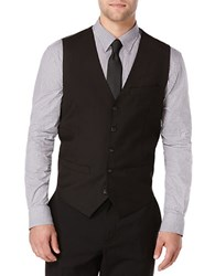 Perry Ellis Big And Tall Solid Suit Vest Black